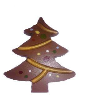 Milk Chocolate Christmas Tree studded with Fudge Brownie Pieces